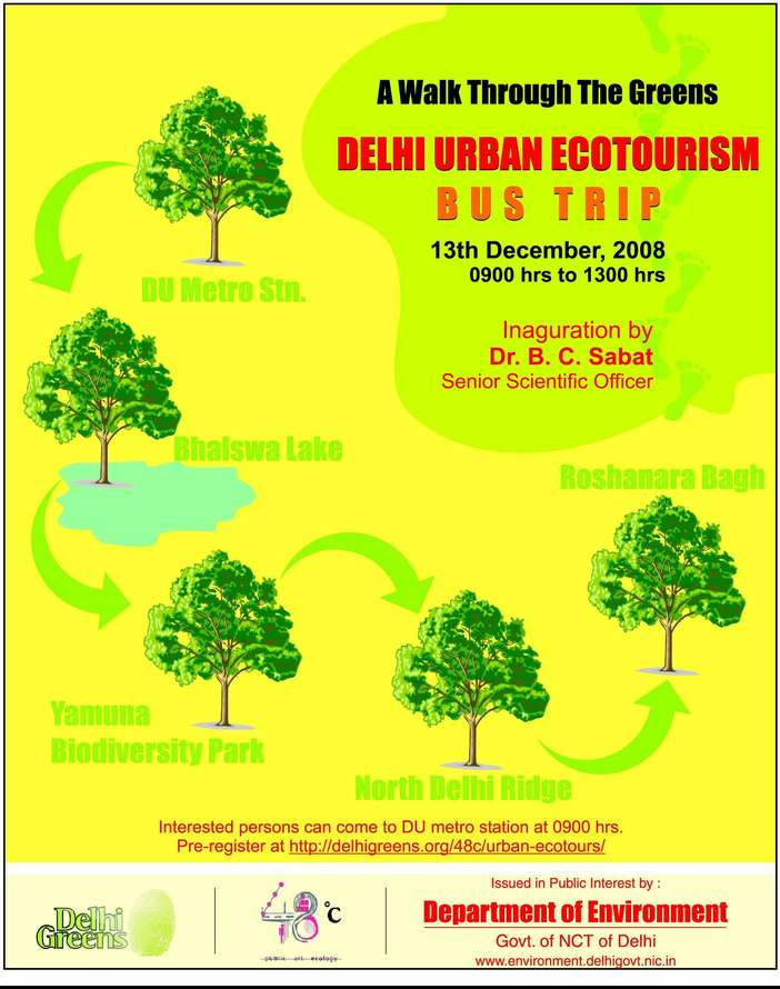 a walk throgh the greens urban-ecotourism-ad-by-delhi-govt-in-indian-express
